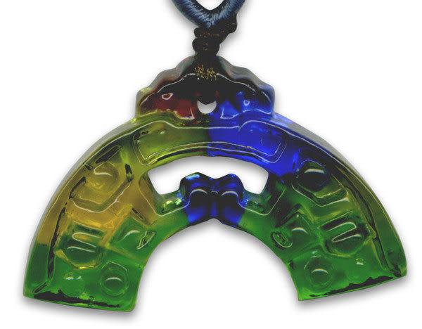 鹿港窯~居家開運水晶琉璃項鍊~螭龍 附精美包裝 ◆免運費送到家◆
