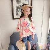 女童短袖T恤夏裝韓版寬鬆體恤兒童上衣【聚可愛】