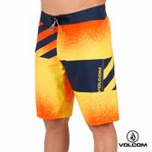 VOLCOM MOD-TECH 色塊衝浪褲-橘色潑墨x深藍
