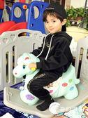 搖搖木馬-兒童搖搖馬帶音樂塑料大號加厚兩用嬰兒玩具寶寶小木馬-奇幻樂園