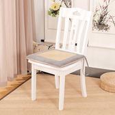 夏季亞麻椅墊坐墊加厚榻榻米 涼席透氣餐椅墊 辦公室座墊屁股墊子「青木鋪子」