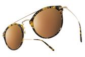 OLIVER PEOPLES 水銀太陽眼鏡 REMICK 1622F9 (花紋棕黃) 復古百搭黃水銀款 # 金橘眼鏡