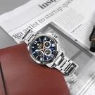 SEIKO 精工 / 5D88-0AH0B / Premier 人動電能 月相錶 不鏽鋼手錶 深藍色 42mm