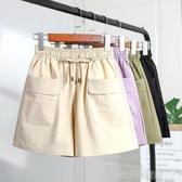 棉麻短褲女夏2020新款鬆緊腰大口袋高腰顯瘦寬鬆闊腿休閒工裝三分 印象