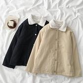 百搭寬鬆羊羔毛外套冬季新款女裝韓版網紅加絨加厚工裝上衣潮