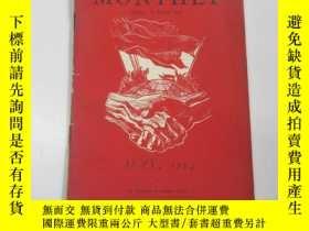 二手書博民逛書店1954年外文原版罕見勞工月刊(labour monthly)第