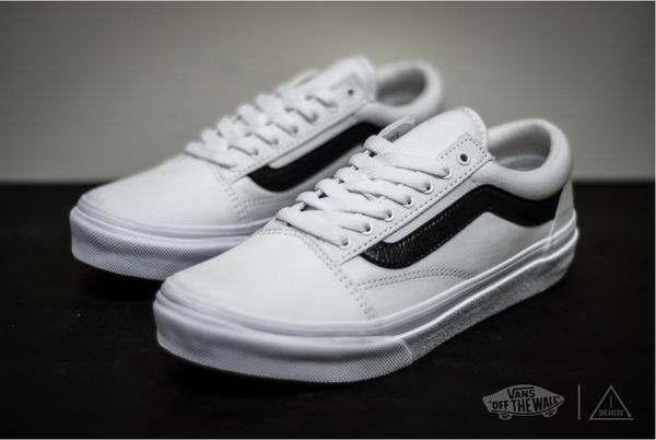 VANS OLD SKOOL 白黑 基本款 復古 滑板鞋 V36CL MDC/AG-JH86027