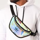 L- adidas WAIST BAG 愛迪達 斜背包 銀色 小腰包 側背包 隨身 收納小包 FM3261