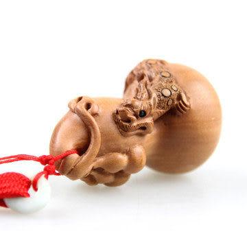 開光桃木 貔貅葫蘆掛件 手把件 招財助運 化煞