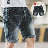 短褲 簡約刷色百搭素面牛仔短褲【N9868J】