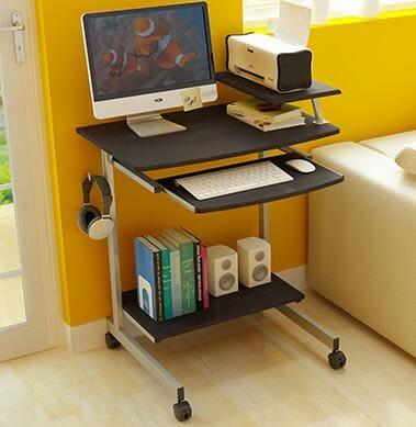 現代電腦桌台式家用行動筆記本省空間簡約桌子70cm小型寫字台igo【極有家】