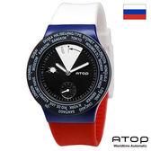 ATOP 世界時區腕錶|24時區國旗系列 - VWA-Russia 俄羅斯