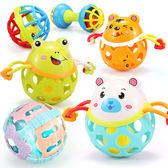 可以咬的嬰兒牙膠玩具0-3-6-12個月女寶寶手搖鈴益智慧咬軟男孩子