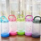 水杯【KCG087】手提磨砂文字玻璃水杯380ml 水瓶 瓶子 咖啡杯 隨行杯 水壺-123ok