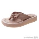 夾腳拖鞋 人字拖女ins潮年夏季新款厚底涼拖鞋外穿海邊沙灘網紅涼鞋風 晶彩 99免運