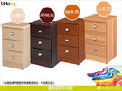 【UHO】TO-三抽床頭櫃/4色可選/免...