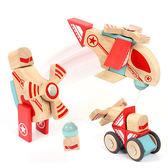 木製玩具 創新玩法  磁力積木交通系列24pcs
