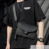 嘻哈迷你單肩包胸包男簡約個性小掛包斜背包斜背包小包女男包 夏季新品