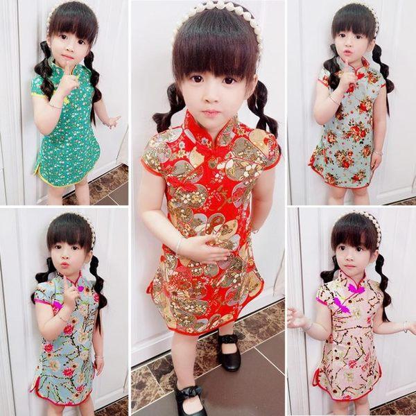 兒童唐裝旗袍女童改良旗袍連身裙中國風女孩寶寶 k-shoes