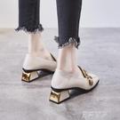 2021秋季新款高跟鞋秋款小香皮鞋粗跟單鞋英倫風秋鞋中跟百搭女鞋