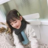 兒童圍巾新品拼色毛線男女寶寶秋冬百搭圍巾保暖雙色針織圍脖 晴天時尚館