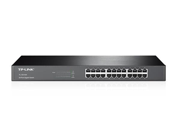 """TP-LINK Gigabit交換器,24埠1000BASE-T 19""""鐵殼 (TL-SG1024)"""