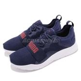 Puma 休閒慢跑鞋 Wired Knit Pro 藍 白 低筒 大LOGO 輕量避震 男鞋 運動鞋【PUMP306】 36912604