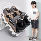 兒童鞋子男童運動鞋2020春秋新款透氣網面防滑鞋時尚中大童老爹鞋