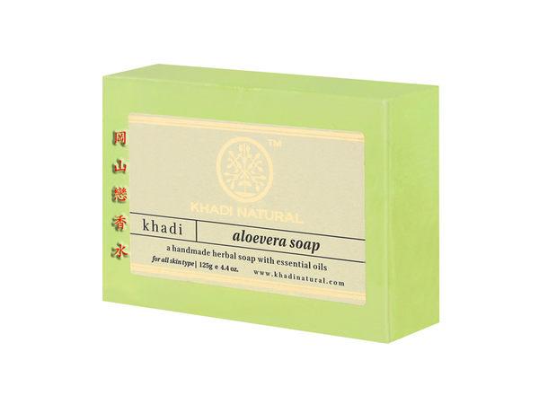 岡山戀香水~印度 Khadi 草本蘆薈手工精油香皂125g~優惠價:65元