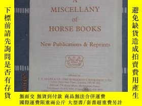 二手書博民逛書店英文書罕見A MISCELLANY of HORSE BOOKS