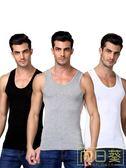 背心男 男士背心純棉運動潮牌白跨欄修身型大碼無袖t恤青年夏季打底健身