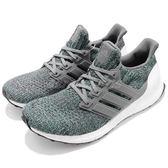 adidas 慢跑鞋 Ultra Boost 4.0 灰 綠 運動鞋 頂級緩震舒適 運動鞋 男鞋【PUMP306】 CP9251