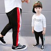 男童運動褲春裝寶寶純棉休閒褲嬰兒童裝男寶褲子兒童長褲 全館免運