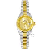 【台南 時代鐘錶 ROSDENTON】勞斯丹頓 經典真鑽時尚腕錶 6062LT-2G 半金 25mm