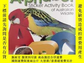 二手書博民逛書店alphabet罕見sticker activity book