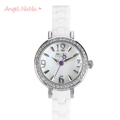 AngelNaNa 手工軟陶錶。韓國MINI正品 立體粉雕女手錶.畢業 耶誕 生日禮物-天使芭蕾(陶瓷)(SWA0098)