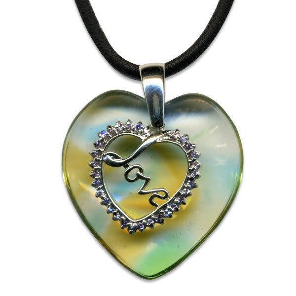 鹿港窯~開運古法水晶琉璃銀飾項鍊~心中愛 附精美包裝◆免運費送到家
