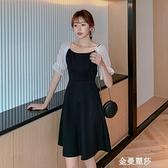 新款法式雪紡洋裝名媛時尚氣質裙子仙女超仙森系收腰顯瘦夏 雙十二全館免運