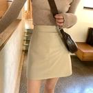 皮裙女2020新款高腰顯瘦a字半身裙 韓版時尚氣質百搭PU短裙包臀裙 雙十一全館免運