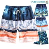 雙十一預熱海灘褲海邊度假短褲休閒男五分褲【洛麗的雜貨鋪】