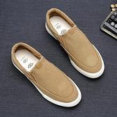 帆布鞋年春季新款布鞋男一腳蹬懶人休閒男鞋低筒韓版板鞋潮帆布鞋男 雙12全館免運