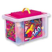 【多禮量販店】《OK我高積木》收納箱益智積木組160片裝 (IQOK-828)