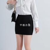 2021新款半身裙女彈力職業包裙黑色一步裙工作西裝短裙正裝包臀裙 快速出貨