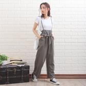 東京著衣-Grandeir-前綁帶後雪紡高腰寬褲-M.L(W200001)