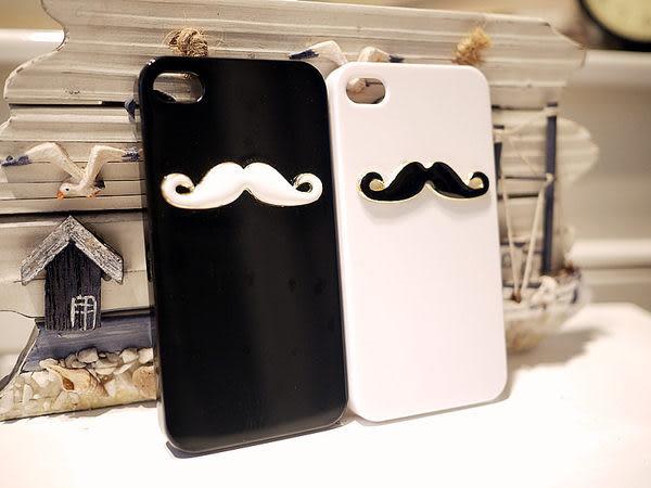 ♥ 俏魔女美人館 ♥{黑白鬍子} HTC J / Z321e 手機殼 手機套 保護殼 保護套