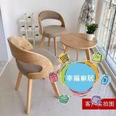 陽台桌椅實木陽台桌椅三件套茶幾組合休閒椅臥室椅庭院桌椅現代簡約椅創意