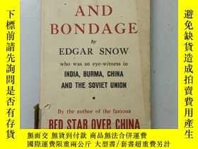 二手書博民逛書店舊書罕見英文原版glory and bondage 埃德加·斯諾 著 1945年印 精裝Y270952 Edg