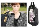 韓版運動家鞋子收納袋/透明天窗可視性戶外運動鞋袋(不挑色)