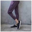 Catworld 設計感文字高腰縮口運動褲【12002081】‧S-2XL