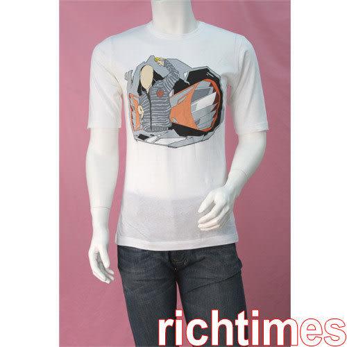 agnes b. 白色帥氣圓領T恤AB399246